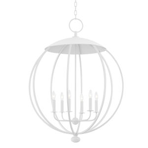 Wesley White Plaster Six-Light Pendant