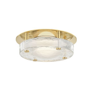 Heath Aged Brass LED Flush Mount