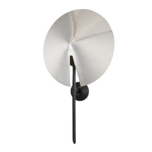 Equilibrium Black and Polished Nickel One-Light ADA Wall Sconce