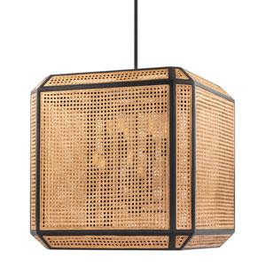Georgia Woven Cane Old Bronze Eight-Light LED Pendant