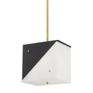 Ratio Black and White Three-Light Pendant