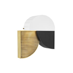 Construct Aged Brass Two-Light LED Wall Sconce