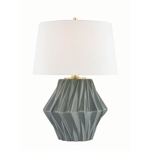 Bertram Aged Brass One-Light Table Lamp