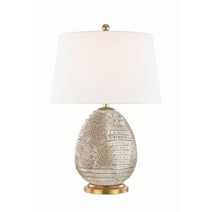 Keita Tabac and Aged Brass Six-Inch One-Light Table Lamp