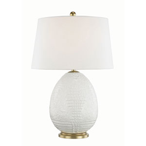 Keita White 10-Inch One-Light Table Lamp