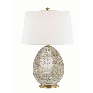 Keita Tabac and Aged Brass 10-Inch One-Light Table Lamp