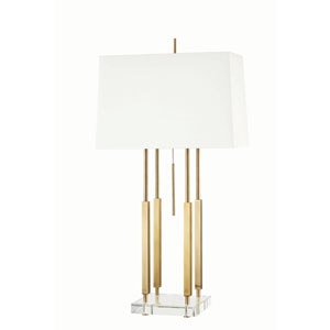 Rhinebeck Aged Brass One-Light Table Lamp