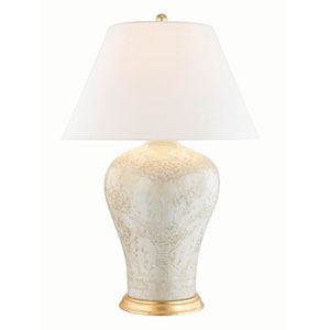 Plutarch Antique Relief and Aged Brass One-Light Table Lamp