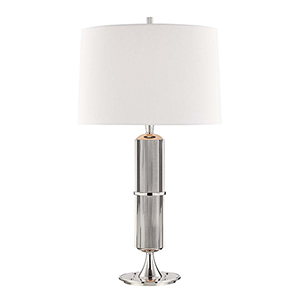 Tompkins Polished Nickel One-Light Table Lamp