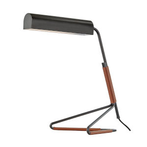 Vance Old Bronze and Saddle LED Accent Table Lamp