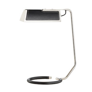 Holtsville Burnished Nickel and Black LED Accent Table Lamp