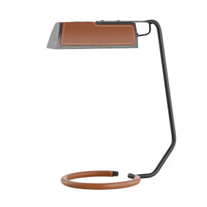 Holtsville Old Bronze and Saddle LED Accent Table Lamp