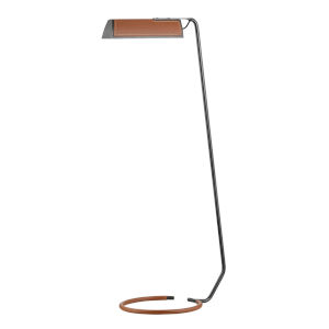 Holtsville Old Bronze and Saddle LED Armchair Floor Lamp