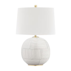 Laurel Aged Brass Stripe Combo One-Light Accent Table Lamp
