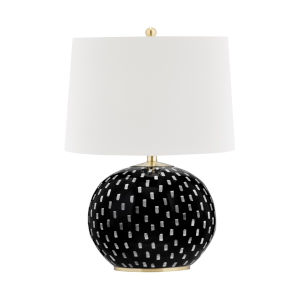 Mastic Aged Brass One-Light Accent Table Lamp