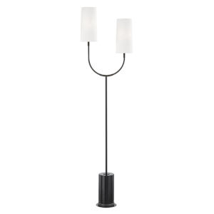 Vesper Old Bronze and Black Two-Light Torchiere Floor Lamp
