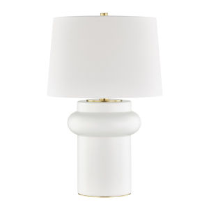Manorville Ivory One-Light Accent Table Lamp