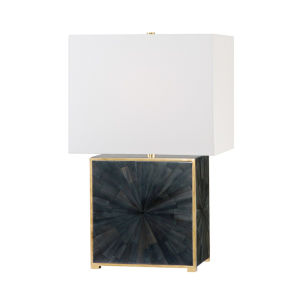 Greenvale Aged Brass and Faux Dark Horn One-Light Accent Table Lamp