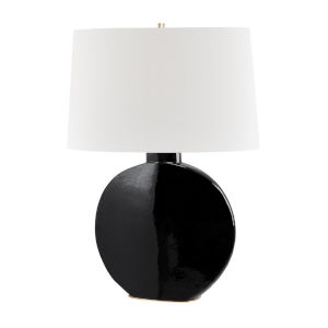 Kimball Aged Brass and Black One-Light Accent Table Lamp