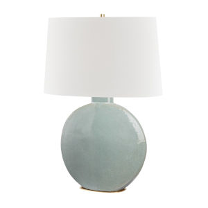 Kimball Aged Brass and Gray One-Light Accent Table Lamp