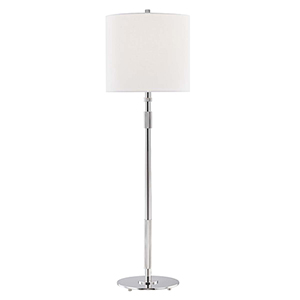 Bowery Polished Nickel One-Light Table Lamp