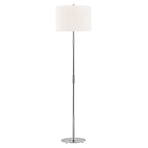 Bowery Polished Nickel One-Light Floor Lamp