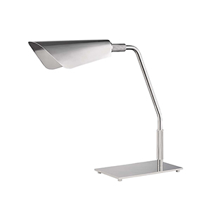 Bowery Polished Nickel One-Light LED Table Lamp