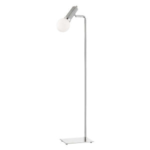 Reade Polished Nickel LED Armchair Floor Lamp