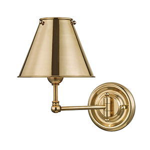 Classic No.1 Gold One-Light Wall Sconce