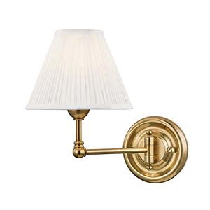 Classic No.1 Gold and Off White One-Light Five-Inch Wall Sconce