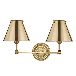 Classic No.1 Gold Two-Light Wall Sconce