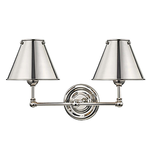 Classic No.1 Gray Two-Light Wall Sconce