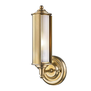 Classic No.1 Gold and Clear One-Light Five-Inch Wall Sconce