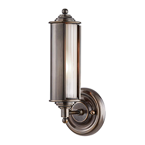 Classic No.1 Bronze and Clear One-Light Wall Sconce