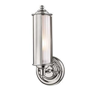 Classic No.1 Gray and Clear One-Light Five-Inch Wall Sconce