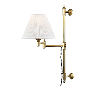 Classic No.1 Gold and Off White One-Light Two-Inch Wall Sconce