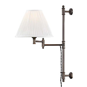 Classic No.1 Bronze and Off White One-Light Two-Inch Wall Sconce