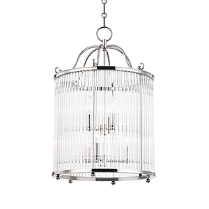 Glass No.1 Gray and Clear Six-Light Chandelier