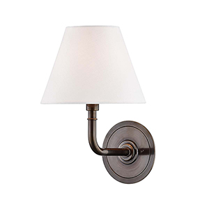 Signature No.1 Bronze and Off White One-Light Wall Sconce
