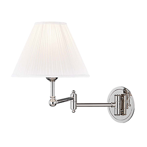 Signature No.1 Polished Nickel One-Light Wall Sconce