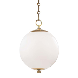 Sphere No.1 Gold and White One-Light 11-Inch Pendant