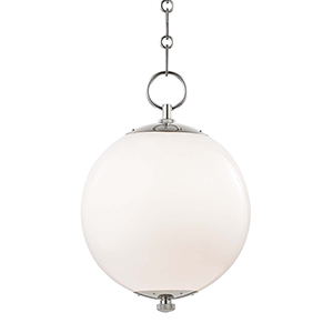 Sphere No.1 Gray and White One-Light 11-Inch Pendant