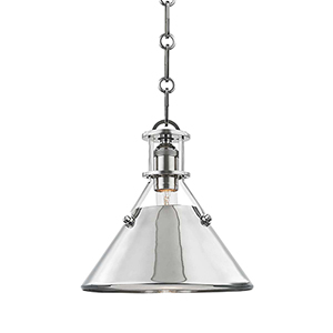 Metal No. 2 Gray One-Light Mini Pendant