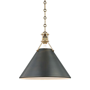 Metal No. 2 Gold and Bronze One-Light Pendant