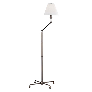 Classic No.1 Bronze and Off White One-Light 23-Inch Floor Lamp