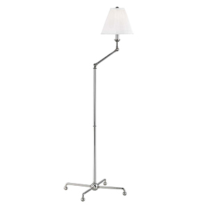 Classic No.1 Gray and Off White One-Light 23-Inch Floor Lamp