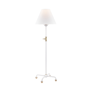 Classic No.1 White One-Light Table Lamp