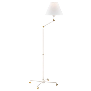 Classic No.1 White One-Light Floor Lamp