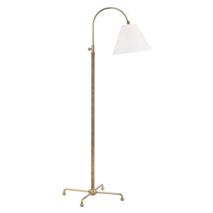 Curves No.1 Gold and Off White One-Light 30-Inch Floor Lamp