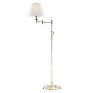 Signature No.1 Gold and Off White One-Light Floor Lamp